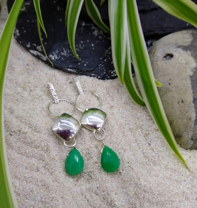 Silver And Chrysoprase