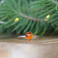 Amber Ring - Christmas Gift for Her - Letterbox Gift