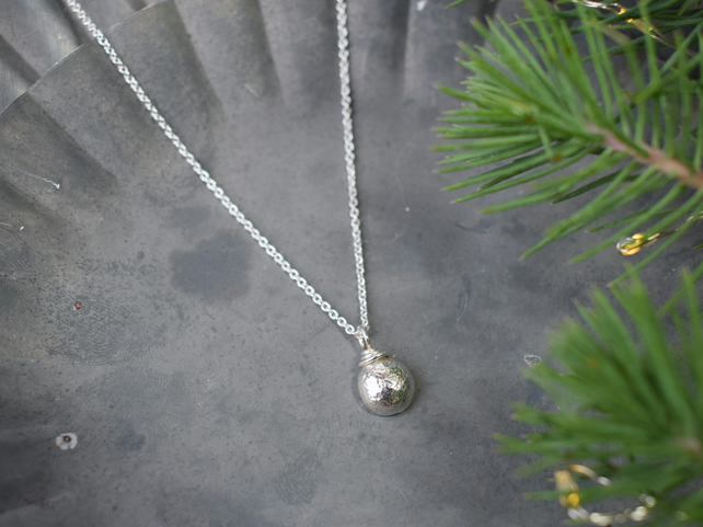 Silver Nugget Necklace - Christmas Gift for Women - Letterbox Gift