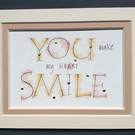 You Make my Heart Smile quote print with 23c gold