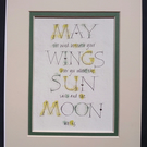 May the Wind beneath your Wings Tolkien print.