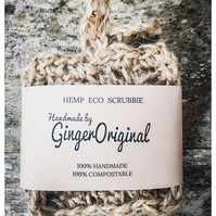 Pack of two Hemp & Jute Eco Scrubbies   Scourer Sponge