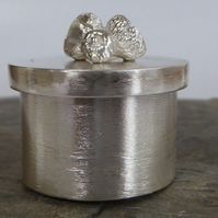 sterling silver box with silver acorns handmade trinket box treasure box