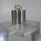Sterling silver miniature box set with acorns tooth fairy keepsake