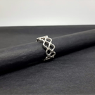Sterling Silver Triple Ripple Ring