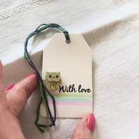 Little Owl Gift Tag