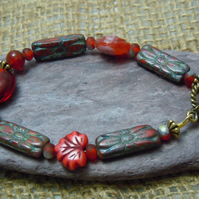 Glass bead & Czech glass bead bracelet