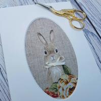 Rabbit Textile art