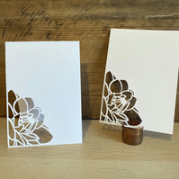 Floral Paper Cut Wedding Table Number Card