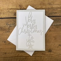 A Very Merry Christmas Paper Cut Card