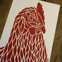 Chicken Paper Cut A4
