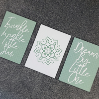 The Nursery - Set of 3 Paper Cuts