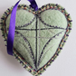Recycled Felted and embroidered Wool Hearts.