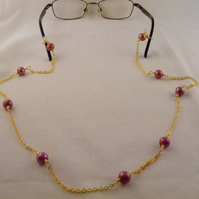 Red Ceramic Spectacle Chain
