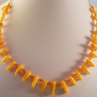 Orange Shell Necklace