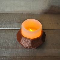 Candle holder and flickering battery candle