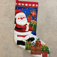 Father Christmas Stocking in fabric