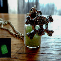 poison mini bottle necklace
