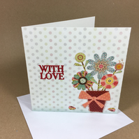 With Love Greetings Card Free postage within the UK