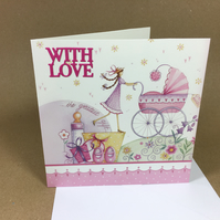 With Love New Baby Greetings Card Free postage within the UK