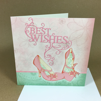 Best Wishes Greetings Card Free postage within the UK