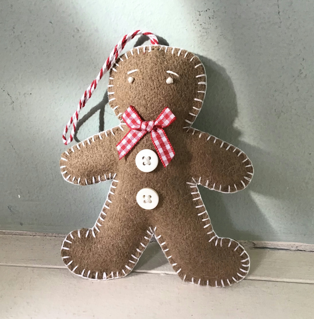 Hanging Felt Gingerbread Man