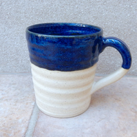 Large coffee mug tea cup in stoneware hand thrown pottery wheelthrown ceramic