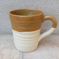 Coffee mug tea cup hand thrown stoneware pottery wheel handmade