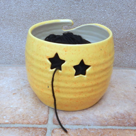 Yarn bowl knitting or crochet wool hand thrown ceramic pottery star