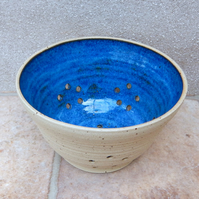 Berry bowl cup or colander wheel thrown stoneware pottery ceramic handmade