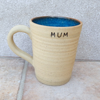 Coffee mug for Mum tea cup in stoneware hand thrown pottery wheelthrown ceramic