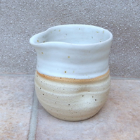 Cream jug creamer hand thrown stoneware pottery handmade ceramic