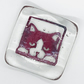 Fused Glass Cat Trinket Dish