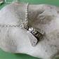 Moth necklace in sterling silver and fine silver