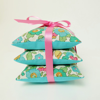 Liberty Betsy Turquoise Lavender Sachet Trio