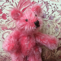 Scruff Pink Mohair Collectable Teddy Bear