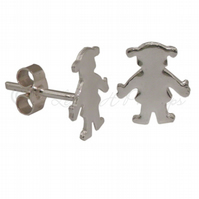 FREE POST UK Silver Girl (New Baby) Stud Earrings Jewellery Gifts For Her BCE5