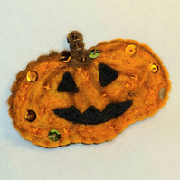 PUMPKIN Halloween Felt Brooch Pin