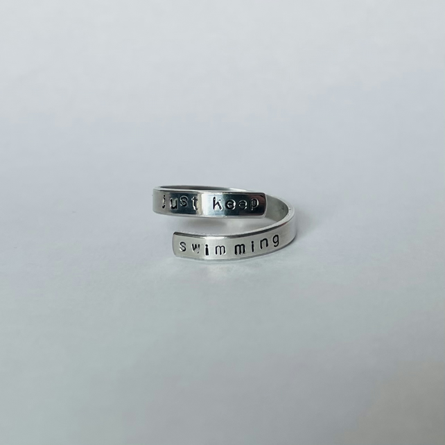 Stamped wrap ring