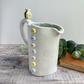 Handmade porcelain button jug 500ml sunshine and bee