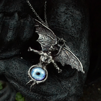 King Diamond THE EYE handsculpted pewter pendant - The Eye of the Witch