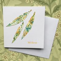 Willow leaves card