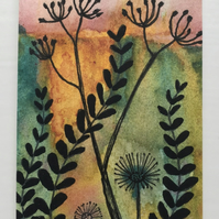 Hedgerow silhouettes Aceo