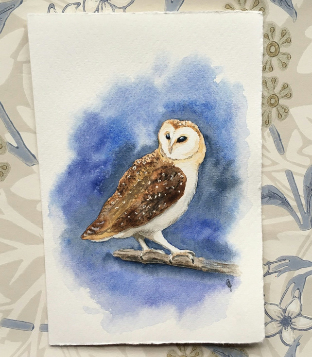 Greetings card barn owl