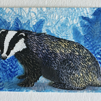 Badger collage aceo