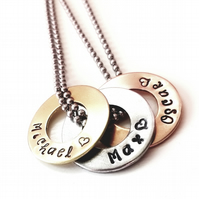 Personalised pendant and bracelet