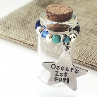 Personalised tooth and curl memory jars