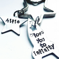 Love you to infinity keyring