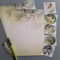 Letter Writing Paper Warwick Goble's The Three Lambs, notepaper, thank you notes