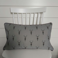 Sophie Allport Stag Cushion Cover with Grey Piping